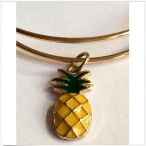 Jewelry - Gold Pineapple Charm Bracelet Enamel Adjustable